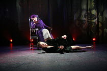 Ann Mitchell (Ethel Rosenberg), Greg Hicks (Roy Cohn) in ANGELS IN AMERICA  by Tony Kushner at the Lyric Hammersmith, London W6   26/06/2007  a Headlong Theatre /  Citizens Theatre Glasgow / Lyric Ha...