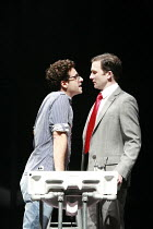 l-r: Adam Levy (Louis), Jo Stone-Fewings (Joe) in ANGELS IN AMERICA  by Tony Kushner at the Lyric Hammersmith, London W6   26/06/2007  a Headlong Theatre /  Citizens Theatre Glasgow / Lyric Hammersmi...