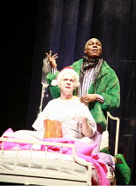 l-r: Mark Emerson (Prior), Obi Abili (Belize) in ANGELS IN AMERICA  by Tony Kushner at the Lyric Hammersmith, London W6   26/06/2007  a Headlong Theatre /  Citizens Theatre Glasgow / Lyric Hammersmit...