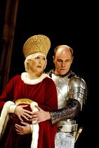 EDWARD III  by Shakespeare  design: Patrick Connellan  lighting: Wayne Dowdeswell  director: Anthony Clark ~Sian Howard (Queen Phillipa), David Rintoul (King Edward III)~Royal Shakespeare Company (RSC...