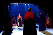 EDWARD III  by Shakespeare  design: Patrick Connellan  lighting: Wayne Dowdeswell  director: Anthony Clark ~illuminated, rear left: David Rintoul (King Edward III)~Royal Shakespeare Company (RSC), Swa...