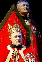 EDWARD III  by Shakespeare  design: Patrick Connellan  lighting: Wayne Dowdeswell  director: Anthony Clark ~(front) David Rintoul (King Edward III)~Royal Shakespeare Company (RSC), Swan Theatre, Strat...
