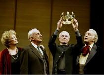'THE HOLLOW CROWN' (devised/directed by John Barton) l-r: Janet Suzman, Ian Richardson, Derek Jacobi, Donald Sinden  Royal Shakespeare Theatre, Royal Shakespeare Company (RSC)   Stratford-upon-Avon...