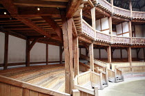 Shakespeare^s Globe, London SE1 <br>,interior   seating        06/2007       ,