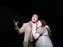 TOSCA   by Puccini   conductor: Mikko Franck   director: Jonathan Kent <br>,Act III: Salvatore Licitra (Cavaradossi), Violeta Urmana (Tosca),The Royal Opera / Covent Garden   London WC2              0...