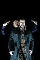 'TOSCA' (Puccini - director: David McVicar),(rear) Peter Coleman-Wright (Baron Scarpia), John Hudson (Mario Cavaradossi),English National Opera / London Coliseum             21/11/2002,
