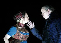 'TOSCA' (Puccini - director: David McVicar),Act II: Cheryl Barker (Floria Tosca), Peter Coleman-Wright (Baron Scarpia),English National Opera / London Coliseum             21/11/2002,
