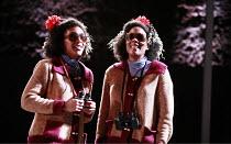 THE SILENT TWINS   music: Errollyn Wallen   words: April de Angelis   director: Martin Constantine <br>,party time in Broadmoor - l-r: Talise Trevigne (June), Alison Crookendale (Jennifer),Almeida Ope...