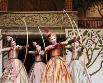LOVE^S LABOUR^S LOST   by Shakespeare   director: Dominic Dromgoole <br>,IV/i - l-r: Gemma Arterton (Rosaline), Cush Jumbo (Maria), Michelle Terry (Princess of France), Oona Chaplin (Katherine)   ,Sha...