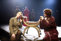 SAINT JOAN   by G B Shaw   director: Marianne Elliott <br>,Anne-Marie Duff (Joan), Paul Ready (Charles, The Dauphin),Olivier Theatre / National Theatre, London SE1                 11/07/2007,