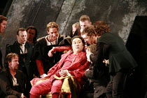 RIGOLETTO   by Verdi   conductor: Renato Palumbo   director: David McVicar <br>,Wookyung Kim (Duke of Mantua) with courtiers   ,The Royal Opera / Covent Garden   London WC2              09/07/2007   ,