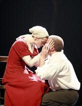 SAINT JOAN   by G B Shaw   director: Marianne Elliott <br>,Anne-Marie Duff (Joan), Brendan O^Hea (Robert de Baudricourt),Olivier Theatre / National Theatre, London SE1                 11/07/2007   ,