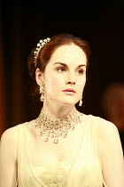 PYGMALION   by George Bernard Shaw   director: Peter Hall <br> ,back from the ball: Michelle Dockery (Eliza Doolittle),Theatre Royal Bath, England                           13/07/2007      ,