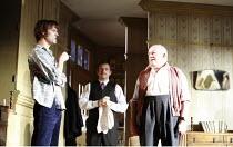 IN CELEBRATION   by David Storey   director: Anna Mackmin <br>,l-r: Paul Hilton (Andrew), Gareth Farr (Colin), Tim Healy (Mr Shaw),Duke of York^s Theatre, London WC2             16/07/2007,