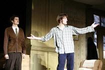 IN CELEBRATION   by David Storey   director: Anna Mackmin <br>,l-r: Orlando Bloom (Steven), Paul Hilton (Andrew),Duke of York^s Theatre, London WC2             16/07/2007,