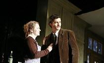 IN CELEBRATION   by David Storey   director: Anna Mackmin <br>,Dearbhla Molloy (Mrs Shaw), Orlando Bloom (Steven),Duke of York^s Theatre, London WC2             16/07/2007,