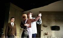 IN CELEBRATION   by David Storey   director: Anna Mackmin <br>,l-r: Orlando Bloom (Steven), Dearbhla Molloy (Mrs Shaw), Paul Hilton (Andrew),Duke of York^s Theatre, London WC2             16/07/2007,
