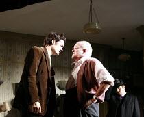 IN CELEBRATION   by David Storey   director: Anna Mackmin <br>,l-r: Orlando Bloom (Steven), Tim Healy (Mr Shaw), (rear right) Gareth Farr (Colin),Duke of York^s Theatre, London WC2             16/07/2...