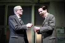 THE HOTHOUSE   by Harold Pinter   director: Ian Rickson <br>,l-r: Stephen Moore (Roote), Paul Ritter (Lush),Lyttelton Theatre / National Theatre, London SE1             18/07/2007,