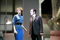 THE HOTHOUSE   by Harold Pinter   director: Ian Rickson <br>,Lia Williams (Miss Cutts), Finbar Lynch (Gibbs),Lyttelton Theatre / National Theatre, London SE1              18/07/2007,