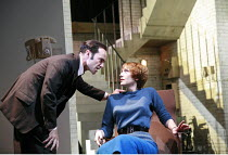 THE HOTHOUSE   by Harold Pinter   director: Ian Rickson <br>,Finbar Lynch (Gibbs), Lia Williams (Miss Cutts),Lyttelton Theatre / National Theatre, London SE1              18/07/2007,