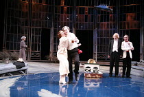 TWELFTH NIGHT   by Shakespeare   director: Philip Franks <br>,II/iii - centre: Suzanne Burden (Maria), Paul Shelley (Sir Toby Belch)   right: Scott Handy (Sir Andrew Aguecheek), Michael Feast (Feste)...