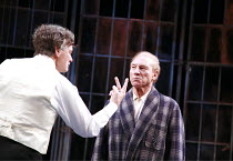 TWELFTH NIGHT   by Shakespeare   director: Philip Franks <br>,l-r: Paul Shelley (Sir Toby Belch), Patrick Stewart (Malvolio), ,Chichester Festival Theatre / West Sussex, England            20/07/2007,