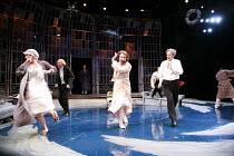 TWELFTH NIGHT   by Shakespeare   director: Philip Franks <br>,II/iii - l-r: (maid), Scott Handy (Sir Andrew Aguecheek), (rear centre, entering) Patrick Stewart (Malvolio), Suzanne Burden (Maria), Paul...