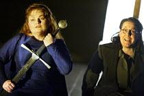 'TRISTAND AND ISOLDE' (Wagner)~l-r: Susan Bullock (Isolde), Jane Irwin (Brangane)~English National Opera / London Coliseum                     24/05/2003