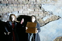'TRISTAND AND ISOLDE' (Wagner)~l-r: Susan Bullock (Isolde), Jane Irwin (Brangane) with the flask of  poison~English National Opera / London Coliseum                     24/05/2003
