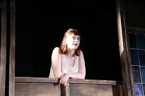 ROMEO AND JULIET   by Shakespeare   director: Polly Findlay <br>,on the balcony: Natasha Barrero (Juliet),Battersea Arts Centre (BAC), London SW11                        24/07/2007   ,