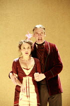 THE CRIMSON HOTEL   by Michael Frayn   director: Douglas Hodge <br>,Lindsey Marshal (Lucienne), Peter Capaldi (Pilou),part of ^Absurdia^, a triple bill of British Absurdist comedies,Donmar Warehouse /...
