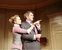 IN THE CLUB   by Richard Bean   director: David Grindley <br>,Sian Brooke (Sasha), James Fleet (Philip Wardrobe),Hampstead Theatre, London NW3                  02/08/2007,
