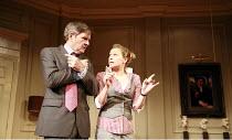 IN THE CLUB   by Richard Bean   director: David Grindley <br>,James Fleet (Philip Wardrobe), Sian Brooke (Sasha),Hampstead Theatre, London NW3                  02/08/2007,