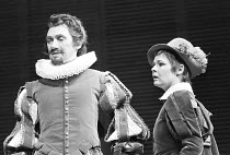 TWELFTH NIGHT by Shakespeare design: Christopher Morley lighting: Brian Harris director: John Barton ~Richard Pasco (Orsino), Judi Dench (Viola)~Royal Shakespeare Company (RSC), Aldwych Theatre, Londo...