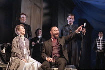 THE WINTER'S TALE by Shakespeare  design: Robert Jones  lighting: Tim Mitchell  director: Gregory Doran ~front: Alexandra Gilbreath (Hermione), Antony Sher (Leontes)~Royal Shakespeare Company (RSC), R...
