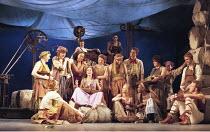 THE WINTER'S TALE by Shakespeare  design: Robert Jones  lighting: Tim Mitchell  director: Gregory Doran ~seated centre: Emily Bruni (Perdita)~Royal Shakespeare Company (RSC), Royal Shakespeare Theatre...