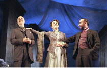THE WINTER'S TALE by Shakespeare  design: Robert Jones  lighting: Tim Mitchell  director: Gregory Doran ~l-r: Ken Bones (Polixenes), Alexandra Gilbreath (Hermione), Antony Sher (Leontes) ~Royal Shakes...