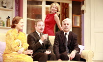 HOW THE OTHER HALF LOVES   by Alan Ayckbourn   director: Alan Strachan <br>,l-r: Amanda Royle (Mary Featherstone), Paul Kemp (William Featherstone), Marsha Fitzalan (Fiona Foster), Nicholas le Prevost...