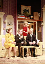 HOW THE OTHER HALF LOVES   by Alan Ayckbourn   director: Alan Strachan <br>,l-r: Amanda Royle (Mary Featherstone), Paul Kemp (William Featherstone), ,Marsha Fitzalan (Fiona Foster), Nicholas le Prevos...