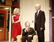HOW THE OTHER HALF LOVES   by Alan Ayckbourn   director: Alan Strachan <br>,l-r: Marsha Fitzalan (Fiona Foster), Paul Kemp (William Featherstone), Nicholas le Prevost (Frank Foster),Theatre Royal Bath...
