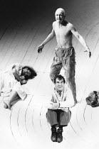 THE TEMPEST   by Shakespeare   director: Nicholas Hytner <br>,Melanie Thaw (Miranda), (standing) John Kane (Caliban), John Wood (Prospero) ,Royal Shakespeare Company / Royal Shakespeare Theatre     St...