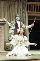 "OTRA TEMPESTAD (Another Tempest)   after Shakespeare   director: Flora Lauten<br>,Orestes Pérez (Prospero), Juana Garcia (Miranda),Teatro Buendia / Cuba   Shakespeare""s Globe, London SE1..."
