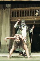 "OTRA TEMPESTAD (Another Tempest)   after Shakespeare   director: Flora Lauten<br>,rear: Orestes Pérez (Prospero) ,Teatro Buendia / Cuba   Shakespeare""s Globe, London SE1                     21/07/199..."