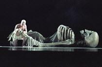 THE TEMPEST   by Shakespeare - director: Silviu Purcarete  ,II/ii:  Gheorghe Ilie (Caliban)   ,Hebbel Theatre / Berlin              Nottingham Playhouse, England                     02/1996,