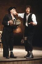THE MERCHANT OF VENICE   by Shakespeare   director: John Barton <br>,II/ii - l-r: Jimmy Gardner (Old Gobbo), Rob Edwards (Launcelot Gobbo)   ,Royal Shakespeare Company / Aldwych Theatre, London   14/0...