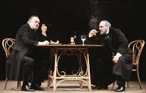THE MERCHANT OF VENICE   by Shakespeare   director: John Barton <br>,l-r:  Raymond Westwell (Tubal), David Suchet (Shylock)   ,Royal Shakespeare Company / Royal Shakespeare Theatre     Stratford-upon-...