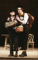 THE MERCHANT OF VENICE   by Shakespeare   director: John Barton <br>,II/ii - l-r: Jimmy Gardner (Old Gobbo), Rob Edwards (Launcelot Gobbo)   ,Royal Shakespeare Company / Royal Shakespeare Theatre...