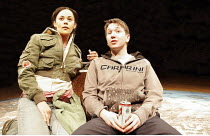 'ON THE SHORE OF THE WIDE WORLD' (Simon Stephens - director: Sarah Frankcom),Carla Henry (as Sarah Black), Thomas Morrison (as Alex Holmes),Royal Exchange Theatre, Manchester    18/04/2005,
