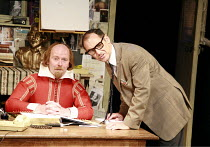 I AM SHAKESPEARE   conceived and written by Mark Rylance   devised by the company   directed by Mark Rylance & Matthew Warchus <br>,l-r: Colin Hurley (William Shakespeare), Mark Rylance (Frank Charlto...